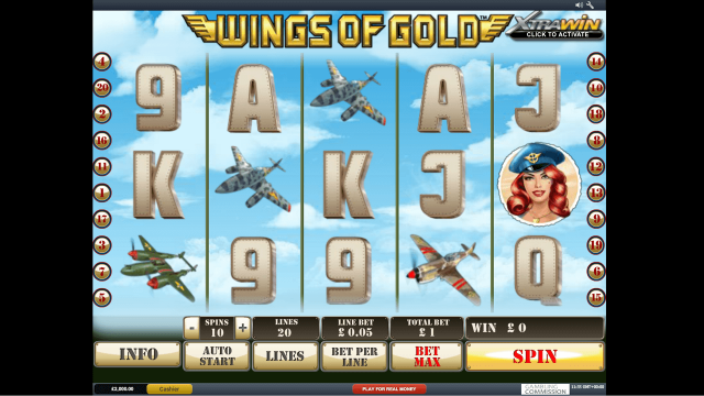 Характеристики слота Wings Of Gold 6