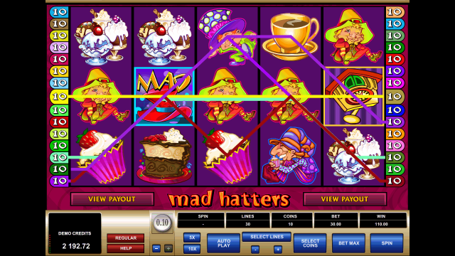 Бонусная игра Mad Hatters 10