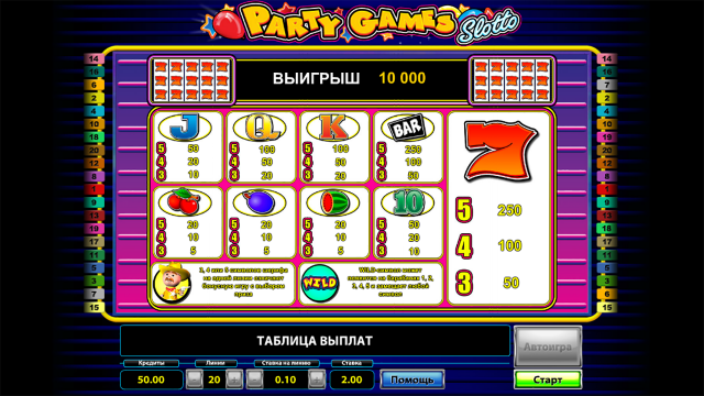 Бонусная игра Party Games Slotto 3