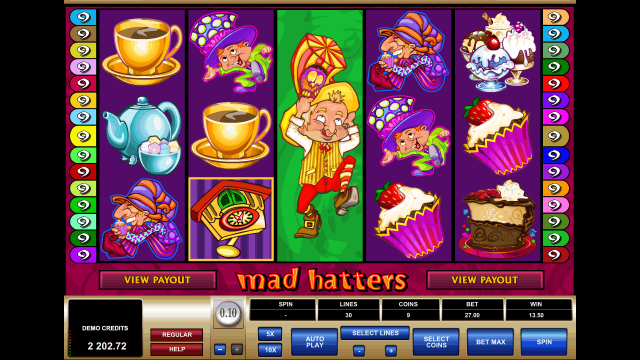 Бонусная игра Mad Hatters 9